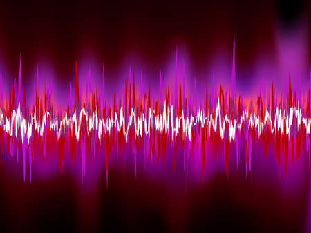 vibrations: Abstract purple waveform.