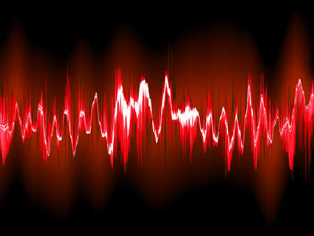 Sound waves on black background. Illustration