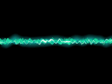 vibrations: Abstract blue waveform.
