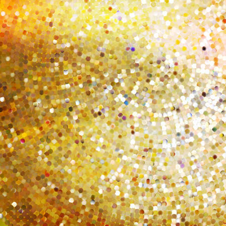 Template design on gold glittering background. Vector