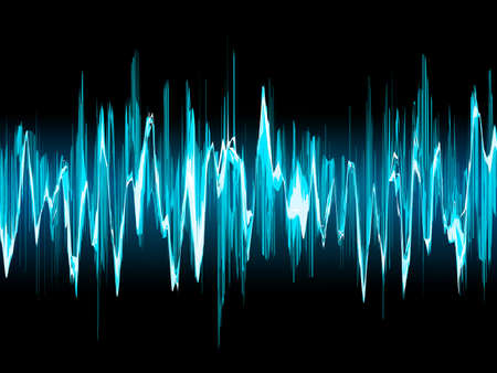 vibrations: Bright sound wave on a dark blue background. EPS 10 vector file included