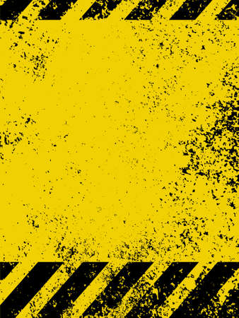 dangerous construction: A grungy and worn hazard stripes texture   Illustration