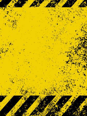 hazard symbol: A grungy and worn hazard stripes texture   Illustration