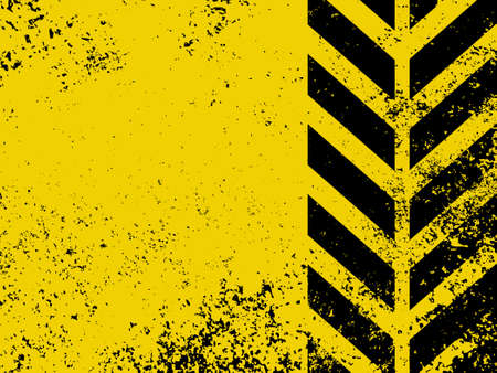 A grungy and worn hazard stripes texture  Illustration