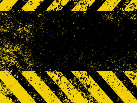 hazardous: Hazard stripes in Grunge style   Illustration
