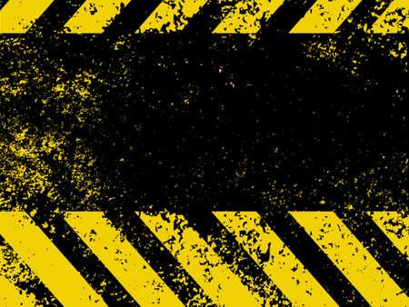 Hazard stripes in Grunge style   Illustration