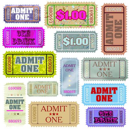 admit: Set of ticket admit one