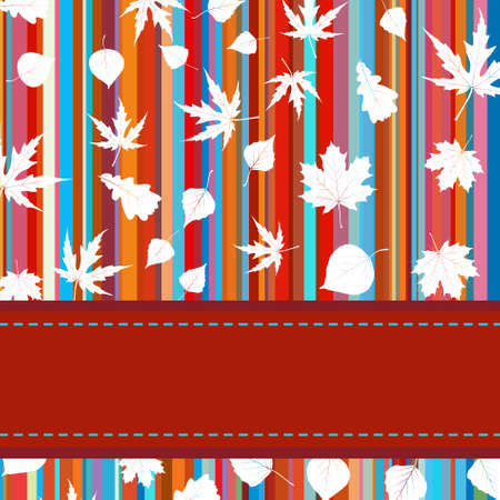 withering: Colorful background with stripes   maple leaves