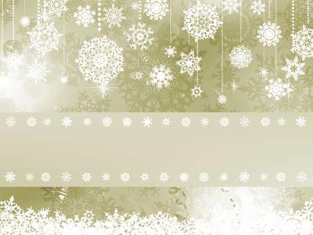 クリスマス雪の結晶をエレガントなクリスマスの背景  イラスト・ベクター素材