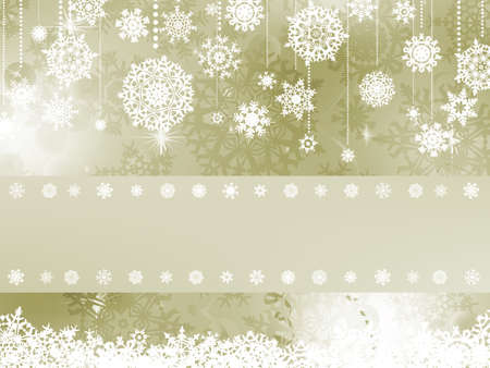 Elegant christmas background with christmas snowflake  Çizim