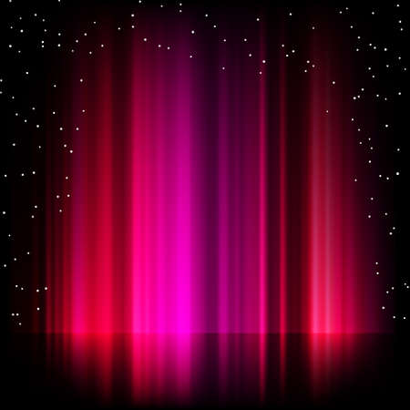 ionosphere: Purple aurora borealis background  EPS 8 vector file included