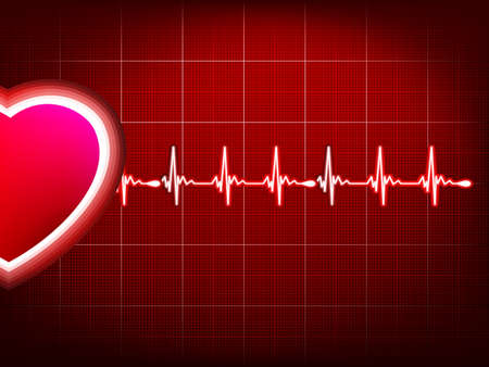 heart ecg trace: Abstract heart beats cardiogram.