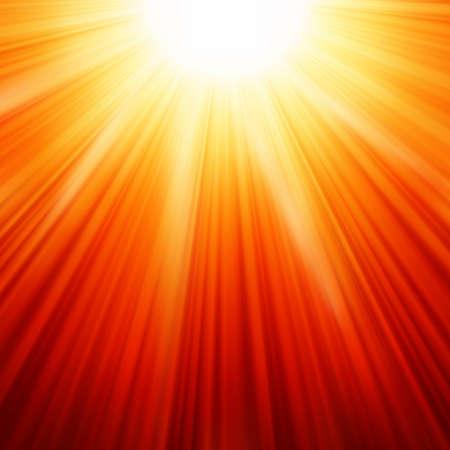 radiacion: Explosión de la estrella de fuego de color rojo y amarillo.