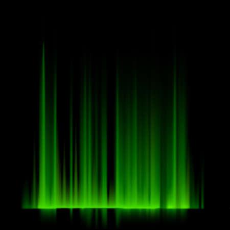 aurora: Green northern lights, aurora borealis.