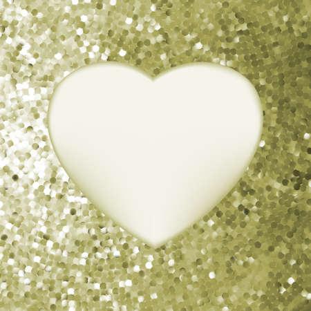 Elegant mosaic glowing heart background