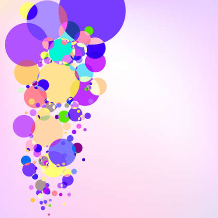 Purple background with bubbles  Vector