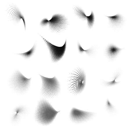 Abstract halftone circle design  Illusztráció
