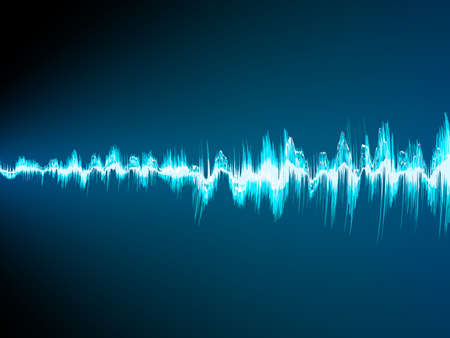 radio waves: Sound wave abstract background