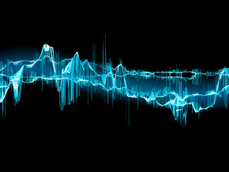Bright sound wave on a dark blue background  EPS 10 vector file included Vector