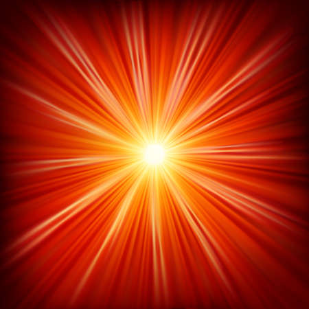 laser radiation: Star burst red and yellow fire