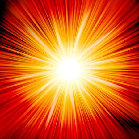 Star burst red and yellow fire  Vector