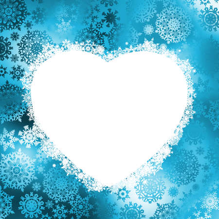 Christmas card - frame in the shape of heart