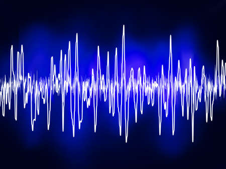 Electronic sine sound or audio waves   Vector