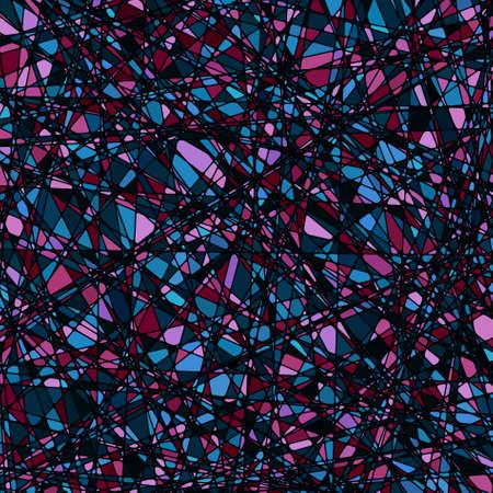 紫のトーン、異なる方向でステンド グラス テクスチャ