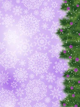Thank you card on a bright christmas card  Vector