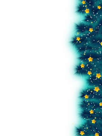 Thank you card on a bright christmas background Vector
