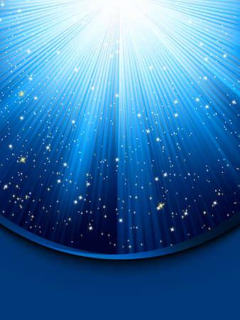 Blue luminous rays  Illustration