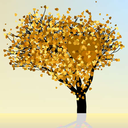 gold heart: Heart and love design in gold colors  EPS 8 vector file included