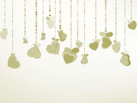 Elegant Valentine s or wedding illustration   Illustration