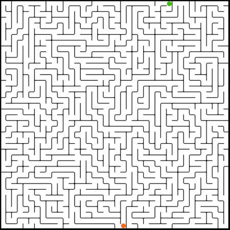 Vector illustration of perfect maze Vector