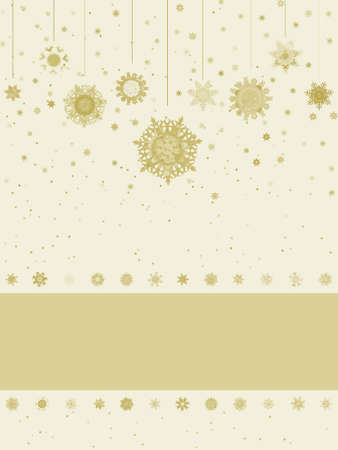 new year s card: Christmas greeting card with snowflakes
