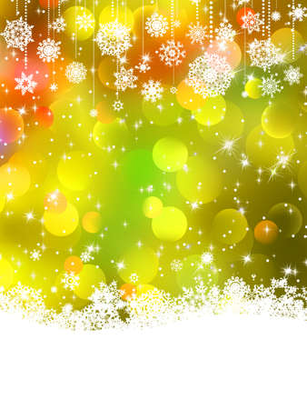 show window: Abstract orange vector winter background with snowflakes  EPS 8 vector file included