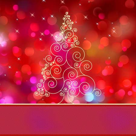 Christmas tree card with tree
