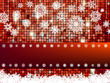 Crastmas card bright mosaic with light Vector
