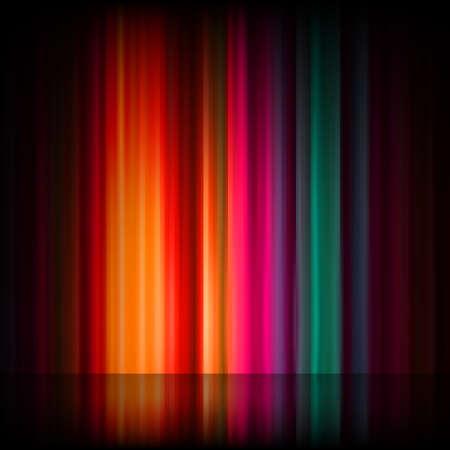 borealis: Aurora Borealis. Colorful abstract background. Illustration