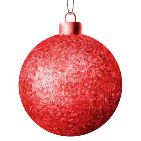 Christmas ball on a white background.