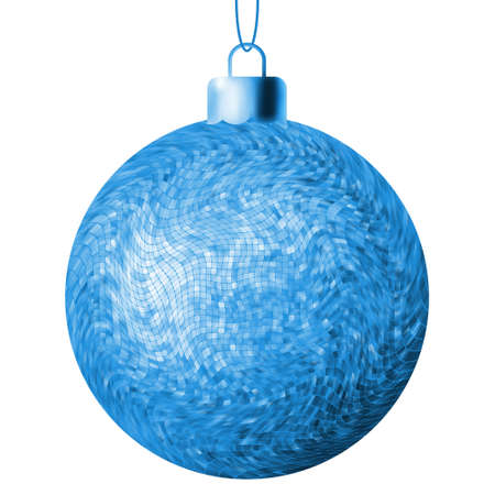 beautify: Christmas ball on a white background.