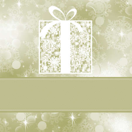 Christmas card template (Without transparency).