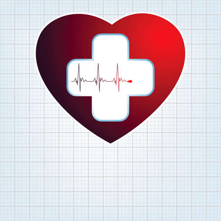 medical cross: Heart medical cross  EPS 8 vector file included