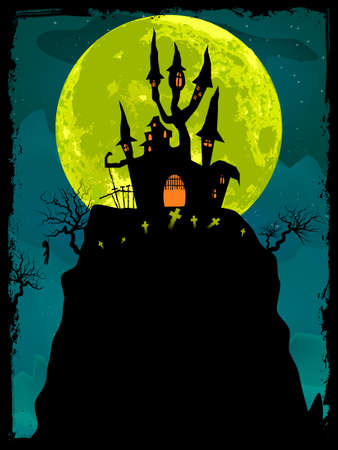 Halloween poster background  EPS 8 vector file included Vector