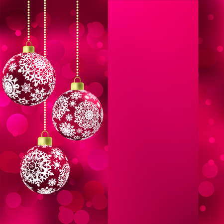 trumpery: Background with stars and Christmas balls  EPS 8 vector file included