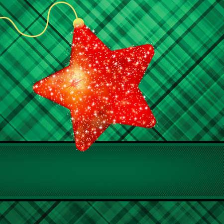 hristmas: hristmas stars on green background. Illustration