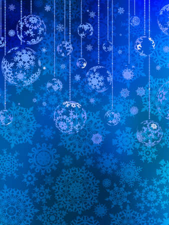Abstraction blue Christmas background.  Vector