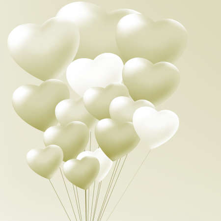 Elegant balloons heart valentine s day  EPS 8 vector file included Vector