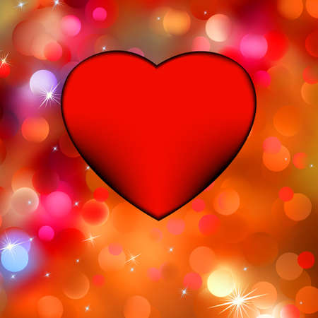 wording: Heart bokeh frame with space for your valentine wording concept  EPS 8 vector file included
