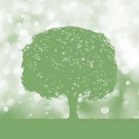 rolling landscape: Tree silhouette blue and white landscape  EPS 8 vector file included Illustration